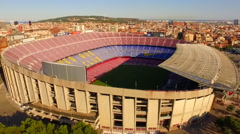 FC Barcelona stadium. General shot of the northern part of the stadium 3 Stock Footage