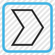 Arrowhead Right Vector Icon In a Frame Stock Illustration