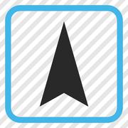 Arrowhead Up Vector Icon In a Frame Stock Illustration