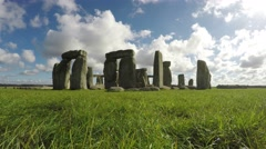 Stonehenge, Salisbury, Amesbury, England, Time Lapse Loop, 4k Stock Footage