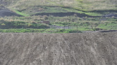 A motocross track. Stock Footage