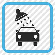 Car Wash Vector Icon In a Frame Stock Illustration