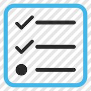 Checklist Vector Icon In a Frame Stock Illustration