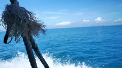 Rope on an old sailing ship Stock Footage