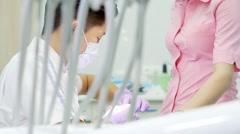 Cosmetic dentistry is the veneers Stock Footage