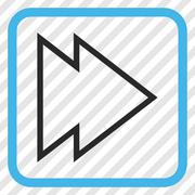 Direction Right Vector Icon In a Frame Stock Illustration
