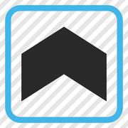 Direction Up Vector Icon In a Frame Stock Illustration