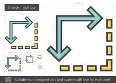 Enlarge image line icon Stock Illustration