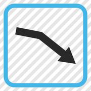 Fail Trend Vector Icon In a Frame Stock Illustration