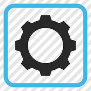 Gear Vector Icon In a Frame Stock Illustration