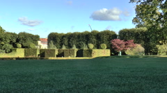 Hedge Topiary in Rosenborg Palace Gardens Stock Footage