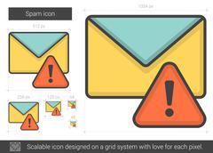 Spam line icon Stock Illustration