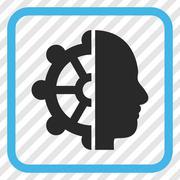 Intellect Vector Icon In a Frame Stock Illustration