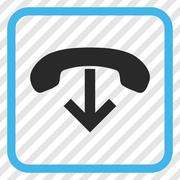 Phone Hang Up Vector Icon In a Frame Stock Illustration