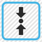 Pressure Vertical Vector Icon In a Frame Stock Illustration