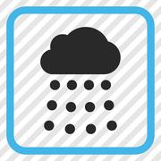 Rain Cloud Vector Icon In a Frame Stock Illustration