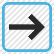 Right Arrow Vector Icon In a Frame Stock Illustration
