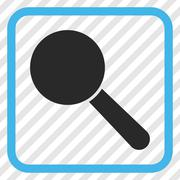 Search Tool Vector Icon In a Frame Stock Illustration