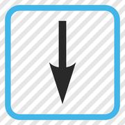 Sharp Arrow Down Vector Icon In a Frame Stock Illustration