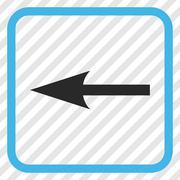 Sharp Arrow Left Vector Icon In a Frame Stock Illustration
