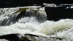 Mountain rivers Falls and rifts Stock Footage