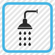 Shower Vector Icon In a Frame Stock Illustration