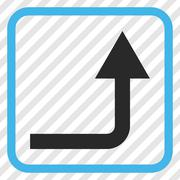 Turn Forward Vector Icon In a Frame Stock Illustration