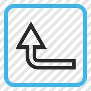 Turn Up Vector Icon In a Frame Stock Illustration