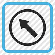 Up-Left Rounded Arrow Vector Icon In a Frame Stock Illustration