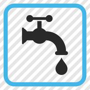 Water Tap Vector Icon In a Frame Stock Illustration