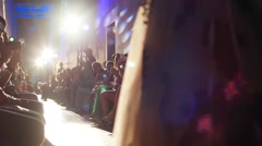 Presentation of new chic evening dresses at a private show Stock Footage
