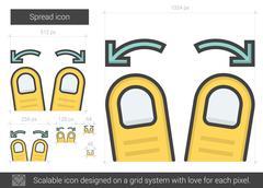 Spread line icon Stock Illustration
