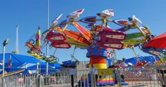 Fun Ride at the State Fair of Texas Stock Footage