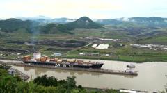 Panama Canal, Panama - September 2013 Stock Footage