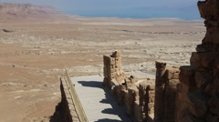View from top of mount masada in israel Stock Footage