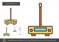 Transmitter line icon Stock Illustration