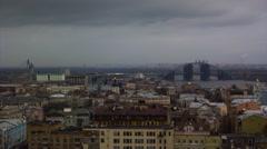 View of Podol, Kiev, Ukraine. Timelapse. Stock Footage