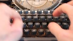 Cyrillic Typewriting Stock Footage