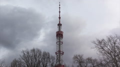 Communications Tower With Cloud Time Lapse Stock Footage