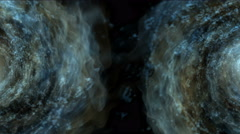 4k Abstract energy vortex universe tunnel fireworks particle hole eddy travel. Stock Footage