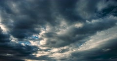 Dramatic Bad Weather Clouds Time Lapse - Dramatic Version Stock Footage