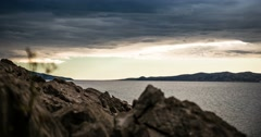 Time Lapse - Dramatic Bad Weather Clouds Over Croatia Stock Footage