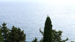 Cypress forests raised on the Aegean coast  Stock Footage