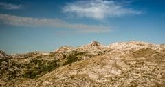 Time Lapse, Mountains At Prosica, Albanian Border, Montenegro Stock Footage
