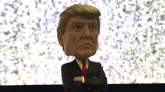 Donald Trump Bobblehead Doll Stock Video Stock Footage