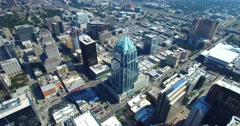 Aerial Footage - Panning Shot of Downtown Austin, TX Stock Footage