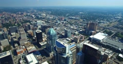 Aerial Footage - Panning shot of downtown Austin Stock Footage