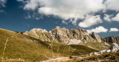 Time Lapse Of Bobotov Kuk Mountain Range, Montenegro Stock Footage