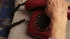 An Old Telephone With Rotary Dial Stock Footage