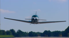 Beechcraft Bonanza F-33 Take Off Head On Stock Footage